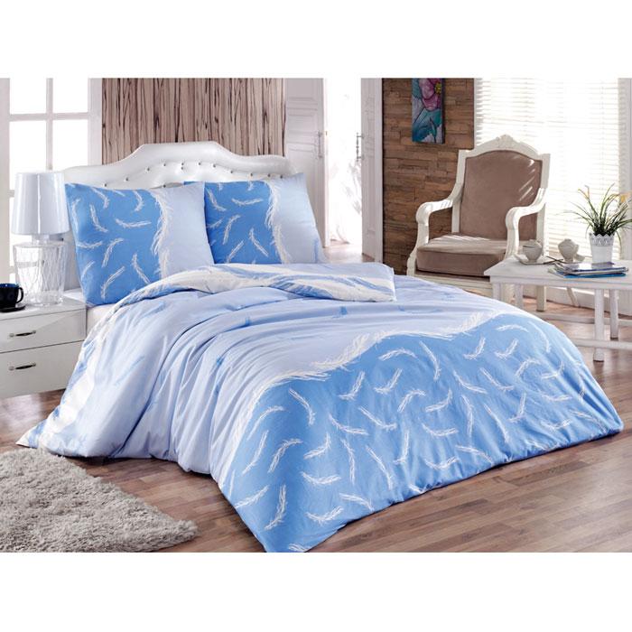 Комплект белья Tete-a-tete Форса (семейный КПБ, сатин, наволочки 70х70), цвет: голубой, синийТ-8015_семейныйКомплект постельного белья Tete-a-tete Форса является экологически безопасным для всей семьи, так как выполнен из натурального хлопка (сатина). Комплект состоит из простыни, двух пододеяльников и двух наволочек. Предметы комплекта оформлены изящным изображением белых перьев. Сатин производится из высших сортов хлопка, а своим блеском, легкостью и на ощупь напоминает шелк. Такая ткань рассчитана на 200 стирок и более. Постельное белье из сатина превращает жаркие летние ночи в прохладные и освежающие, а холодные зимние - в теплые и согревающие. Благодаря натуральному хлопку, комплект постельного белья из сатина приобретает способность пропускать воздух, давая возможность телу дышать. Одно из преимуществ материала в том, что он практически не мнется, и ваша спальня всегда будет аккуратной и нарядной.