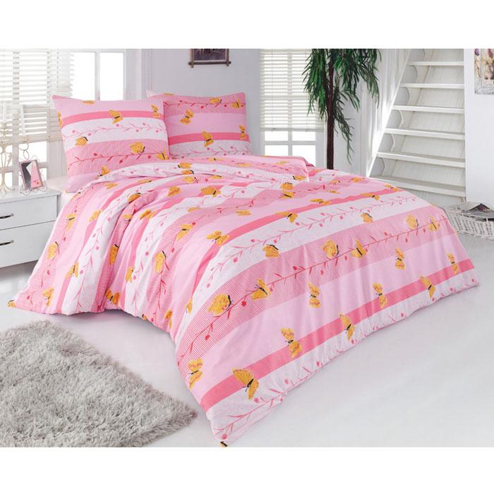 Комплект белья Sonna. Бабочки (2-х спальный КПБ, бязь, наволочки 70х70), цвет: розовыйS-8026_2-спальныйКомплект постельного белья Sonna. Бабочки состоит из простыни, пододеяльника и двух наволочек. Постельное белье декорировано оригинальным рисунком и выполнено в спокойной цветовой гамме. Комплект, изготовленный из бязи, поможет вам расслабиться и подарит спокойный сон. Великолепная идея для подарка! Бязь - 100 % хлопок, хлопчатобумажная ткань полотняного переплетения. Ткань прочная, мягкая, имеет внешний вид одинаковый с лицевой и изнаночной стороны. Обладает низкой сминаемостью, легко стирается и хорошо гладится.