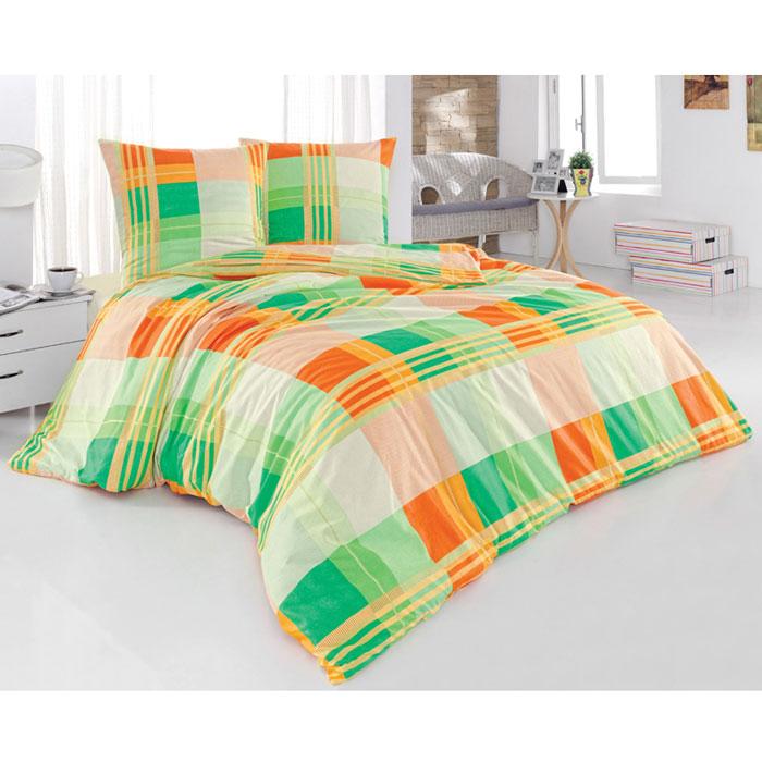 Комплект белья Sonna Параллель (евро КПБ, бязь, наволочки 70х70), цвет: зеленый, оранжевыйS-8022_евроКомплект постельного белья Sonna Параллель, изготовленный из бязи, поможет вам расслабиться и подарит спокойный сон. Комплект состоит из простыни, пододеяльника и двух наволочек. Предметы комплекта оформлены ярким принтом в крупную клетку. Бязь - 100% хлопок, хлопчатобумажная ткань полотняного переплетения. Ткань прочная, мягкая, имеет внешний вид одинаковый с лицевой и изнаночной стороны. Обладает низкой сминаемостью, легко стирается и хорошо гладится. Характеристики: Страна: Турция. Материал: бязь (100% хлопок). Размер упаковки: 28 см х 37 см х 6 см. В комплект входят: Пододеяльник - 1 шт. Размер: 200 см х 215 см. Простыня - 1 шт. Размер: 220 см х 240 см. Наволочка - 2 шт. Размер: 70 см х 70 см. Постельное белье под маркой Sonna изготавливается из ткани с улучшенными потребительскими свойствами, рисунки создаются специально для этой продукции и часто...