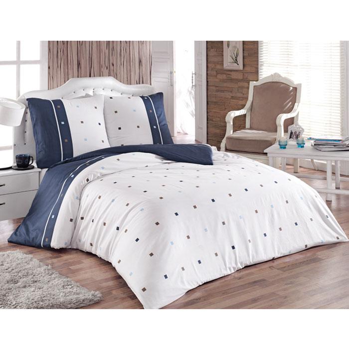 Комплект белья Tete-a-tete Брайтон (2-х спальный КПБ, сатин, наволочки 70х70), цвет: синий, белыйТ-8018_2-спальныйКомплект постельного белья Tete-a-tete Брайтон является экологически безопасным для всей семьи, так как выполнен из натурального хлопка (сатина). Комплект состоит из простыни, пододеяльника и двух наволочек. Предметы комплекта оформлены принтом в мелкие квадраты. Сатин производится из высших сортов хлопка, а своим блеском, легкостью и на ощупь напоминает шелк. Такая ткань рассчитана на 200 стирок и более. Постельное белье из сатина превращает жаркие летние ночи в прохладные и освежающие, а холодные зимние - в теплые и согревающие. Благодаря натуральному хлопку, комплект постельного белья из сатина приобретает способность пропускать воздух, давая возможность телу дышать. Одно из преимуществ материала в том, что он практически не мнется, и ваша спальня всегда будет аккуратной и нарядной.