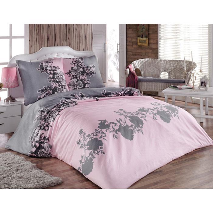 Комплект белья Tete-a-tete Авиньон (1,5 спальный КПБ, сатин, наволочки 70х70), цвет: розовый, серыйТ-8014_1,5-спальныйКомплект постельного белья Tete-a-tete Авиньон является экологически безопасным для всей семьи, так как выполнен из натурального хлопка (сатина). Комплект состоит из простыни, пододеяльника и двух наволочек. Предметы комплекта оформлены изящным цветочным рисунком. Сатин производится из высших сортов хлопка, а своим блеском, легкостью и на ощупь напоминает шелк. Такая ткань рассчитана на 200 стирок и более. Постельное белье из сатина превращает жаркие летние ночи в прохладные и освежающие, а холодные зимние - в теплые и согревающие. Благодаря натуральному хлопку, комплект постельного белья из сатина приобретает способность пропускать воздух, давая возможность телу дышать. Одно из преимуществ материала в том, что он практически не мнется, и ваша спальня всегда будет аккуратной и нарядной.