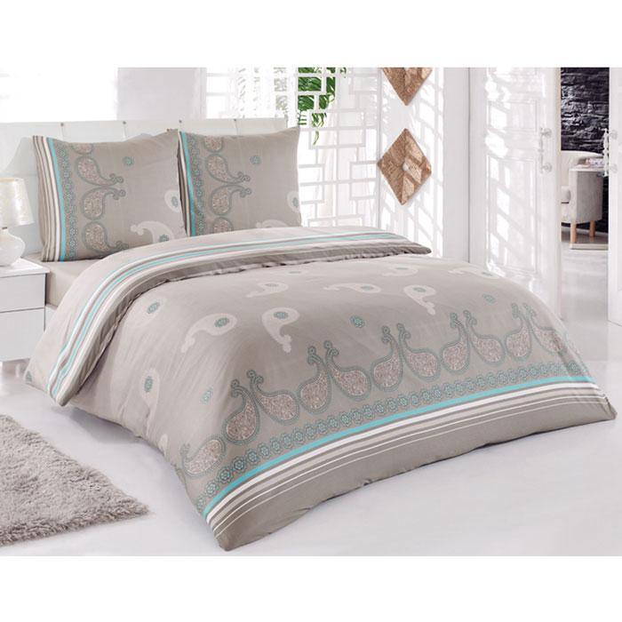 Комплект белья Tete-a-tete Дели (2-х спальный КПБ, сатин, наволочки 70х70), цвет: мокко, бирюзаТ-8009_2-спальныйКомплект постельного белья Tete-a-tete Дели является экологически безопасным для всей семьи, так как выполнен из натурального хлопка (сатина). Комплект состоит из простыни, пододеяльника и двух наволочек. Предметы комплекта оформлены оригинальным принтом в восточном стиле. Сатин производится из высших сортов хлопка, а своим блеском, легкостью и на ощупь напоминает шелк. Такая ткань рассчитана на 200 стирок и более. Постельное белье из сатина превращает жаркие летние ночи в прохладные и освежающие, а холодные зимние - в теплые и согревающие. Благодаря натуральному хлопку, комплект постельного белья из сатина приобретает способность пропускать воздух, давая возможность телу дышать. Одно из преимуществ материала в том, что он практически не мнется, и ваша спальня всегда будет аккуратной и нарядной.