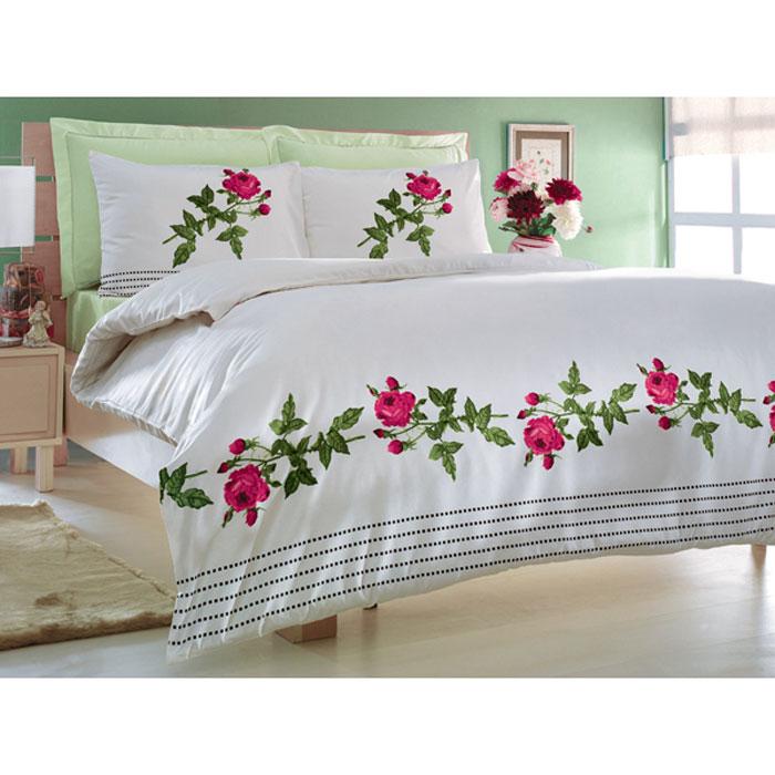 Комплект белья Tete-a-tete Элейн (1,5 спальный КПБ, сатин премиум, наволочки 70х70), цвет: белый. Т-0043-01Т-0043-01_1,5-спальныйКомплект постельного белья Элейн является экологически безопасным для всей семьи, так как выполнен из натурального хлопка. Комплект состоит из пододеяльника, простыни и двух наволочек. Постельное белье оформлено оригинальным рисунком и имеет изысканный внешний вид. Все предметы комплекта цельнокроеные. Вас поразит необыкновенная тонкость, почти воздушная легкость и невероятная шелковистость этой специальной ткани, которая еще усилится после стирки. Ненавязчивые цвета хорошо примут наложение любого другого оттенка, при любом освещении. Ваша постель будет выглядеть безупречно. Наволочки имеют клапан без пуговиц и молнии. Пододеяльник имеет молнию на нижнем конце. Молния имеет фиксаторы, не позволяющие расстегиваться ей до самого конца, а сама она очень прочная и состоит из одной эргономичной детали, что не позволит ей сломаться легко. Сатин - производится из высших сортов хлопка, а своим блеском, легкостью и на ощупь напоминает шелк. Такая ткань рассчитана на 200...
