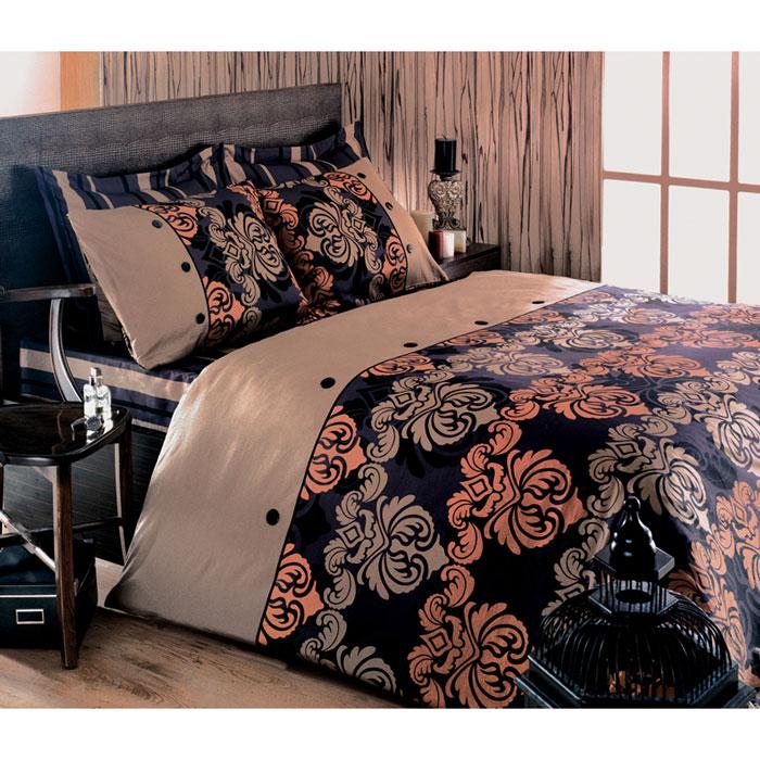 Комплект белья Tete-a-tete Дюбарри (1,5 спальный КПБ, сатин премиум, наволочки 70х70), цвет: бежевый. Т-0037-01Т-0037-01_1,5-спальныйКомплект постельного белья Дюбарри является экологически безопасным для всей семьи, так как выполнен из натурального хлопка. Комплект состоит из пододеяльника, простыни и двух наволочек. Постельное белье оформлено оригинальным рисунком и имеет изысканный внешний вид. Все предметы комплекта цельнокроеные. Вас поразит необыкновенная тонкость, почти воздушная легкость и невероятная шелковистость этой специальной ткани, которая еще усилится после стирки. Ненавязчивые цвета хорошо примут наложение любого другого оттенка, при любом освещении. Ваша постель будет выглядеть безупречно. Наволочки имеют клапан без пуговиц и молнии. Пододеяльник имеет молнию на нижнем конце. Молния имеет фиксаторы, не позволяющие расстегиваться ей до самого конца, а сама она очень прочная и состоит из одной эргономичной детали, что не позволит ей сломаться легко. Сатин - производится из высших сортов хлопка, а своим блеском, легкостью и на ощупь напоминает шелк. Такая ткань рассчитана на 200...