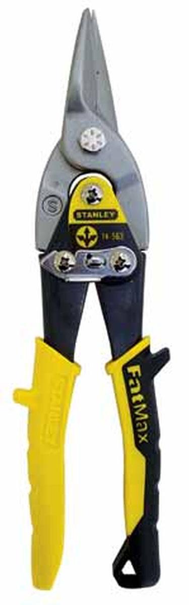 Ножницы по металлу Stanley FatMax, универсальные. 2-14-5632-14-563Ножницы по металлу Stanley FatMax изготовленные из хромомолибденовой стали, с двухрычажной системой для облегчения реза предназначены для реза листового металла. Насечки на режущих кромках не позволяют обрабатываемому материалу выскальзывать. Для удобства хранения и транспортировки имеется запорный механизм, который удерживает режущие кромки ножниц в закрытом положении.