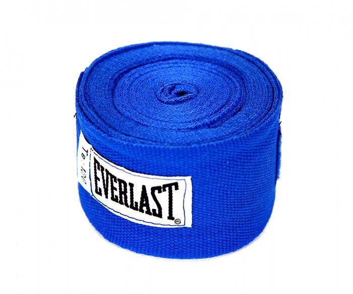 Everlast Бинты боксерские хлопковые Everlast, длина 3 м, цвет: синий