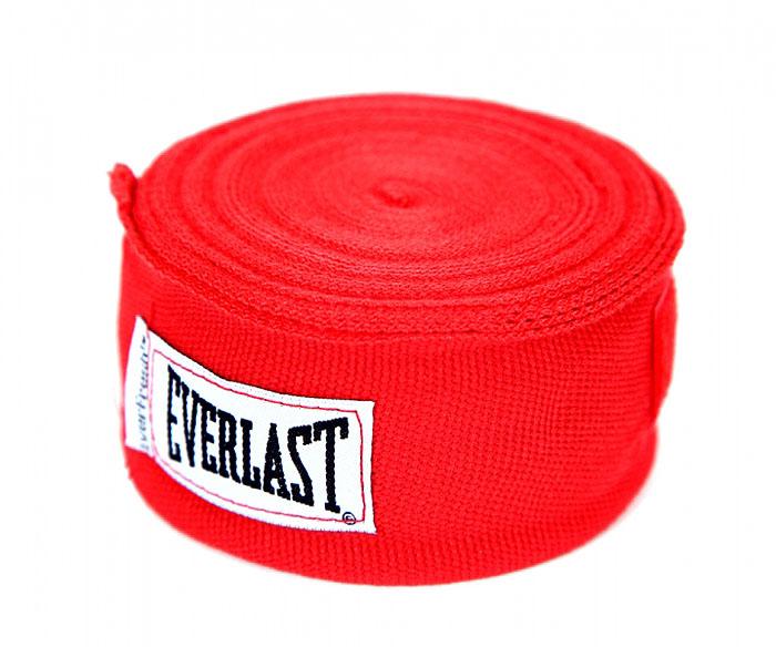Бинт боксерский эластичный Everlast, длина 4,55 м, цвет: красный ( 4456RU )