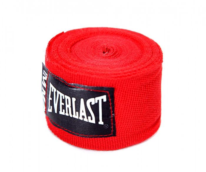 Бинты боксерские эластичные Everlast MMA, длина 2,54 м, цвет: красный4453RПрофессиональные бинты предназначены для занятий боксом и единоборствами. Изготовлены из полиамида с добавлением полиэстера. Застежка на липучке.