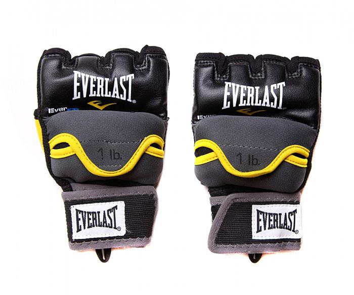 Перчатки гелевые Everlast Weighted Evergel с утяжелителем, 1 кг. Размер S/M4335GRSMТренировочные боксерские перчатки, предназначенные как для работы со снарядами, так и для боя с тенью. Инновационная технология Evergel прекрасно амортизирует удары и защищает суставы пальцев. Обмотки с застежкой на липучке позволяют подогнать перчатки по размеру.