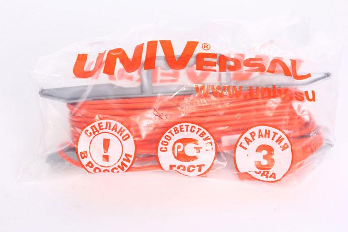 Удлинитель на рамке UNIVersal без заземления, цвет: оранжевый, 50 м