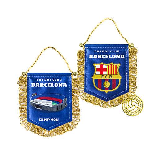 Вымпел FC Barcelona, 9 см х 11 см158350Вымпел с эмблемой футбольного клуба Barcelona. С одной стороны изображен стадион, а с другой логотип клуба. Двусторонний мягкий вымпел на металлическом стержне с металлическими наконечниками. Присоска для крепления на стекло автомобиля. Материал: полиэстер. Размер вымпела: 9 см х 11 см. Размер упаковки: 12 см х 12 см х 0,5 см.