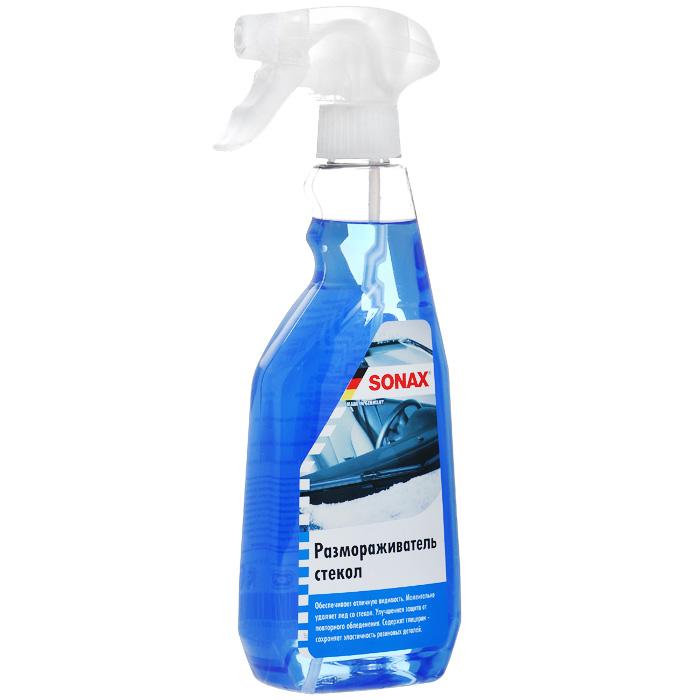Размораживатель стекол Sonax, 500 мл331241Размораживатель стекол Sonax не требует механического удаления льда, защищая тем самым стекло от появления царапин. Обеспечивает отличную видимость. Улучшенная защита от повторного обледенения. Содержит глицерин - сохраняет эластичность резиновых деталей. Характеристики: Объем: 500 мл. Артикул: 331241. Товар сертифицирован.