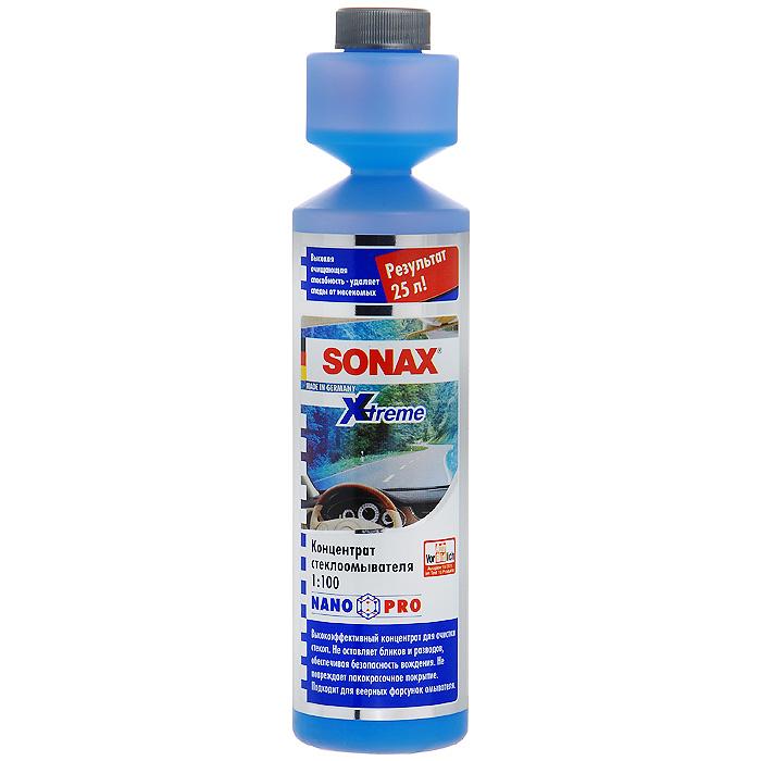 Стеклоомыватель Sonax NanoPro, концентрат 1:100, 250 мл271141Концентрированный стеклоомыватель Sonax NanoPro применяется в летний период. Мгновенно удаляет масленый налет, копоть, силикон, следы от насекомых и другие загрязнения. Стеклоомыватель безопасен для резины, пластика и фар. Может смешиваться с водой любой жесткости. Для обеспечения безопасности содержит горькую добавку. Инструкция по применению : 25 мл достаточно для приготовления 2,5 л готового стеклоомывателя; содержимое бутылки достаточно для приготовления 25 л готового стеклоомывателя; беречь от воздействия минусовых температур. Характеристики: Состав: 15-30% анионогенные ПАВ, краситель, отдушка, кумарин, гексил циннамал, лимонен, метилизотиазолинон, бензизотиазолион. Объем: 250 мл. Артикул: 271141.