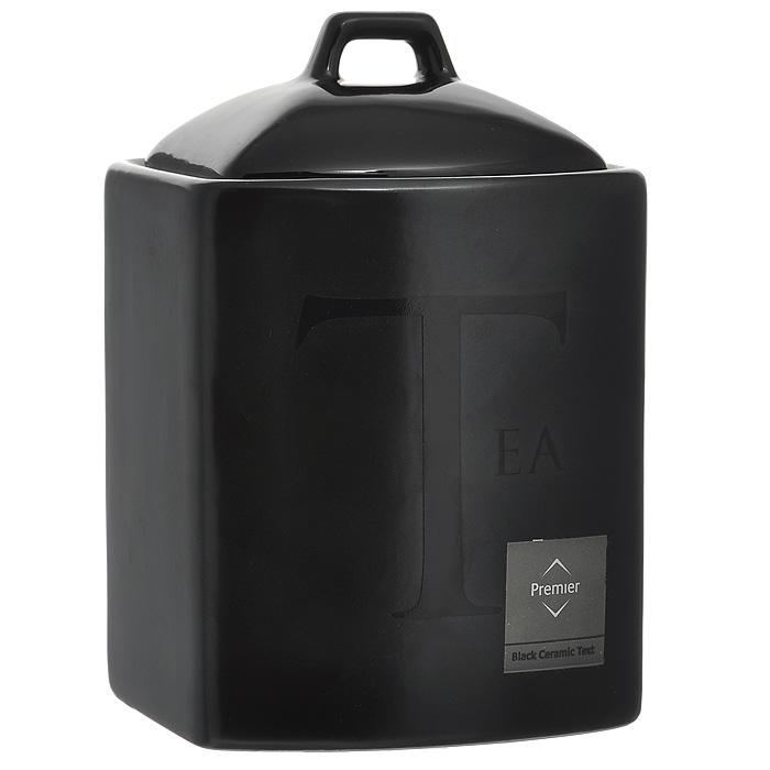 Банка для хранения Tea, цвет: черный0721688Банка для хранения Tea, выполненная из керамики, станет незаменимым помощником на кухне. В ней будет удобно хранить чай. Банка надежно закрывается крышкой, которая снабжена резиновым уплотнителем для лучшей фиксации. Такая банка не только сэкономит место на вашей кухне, но и украсит интерьер. Характеристики: Материал: керамика, резина. Цвет: черный. Размер банки (без учета крышки) (Д х Ш х В): 12 см х 11 см 14 см. Артикул: 0721688.