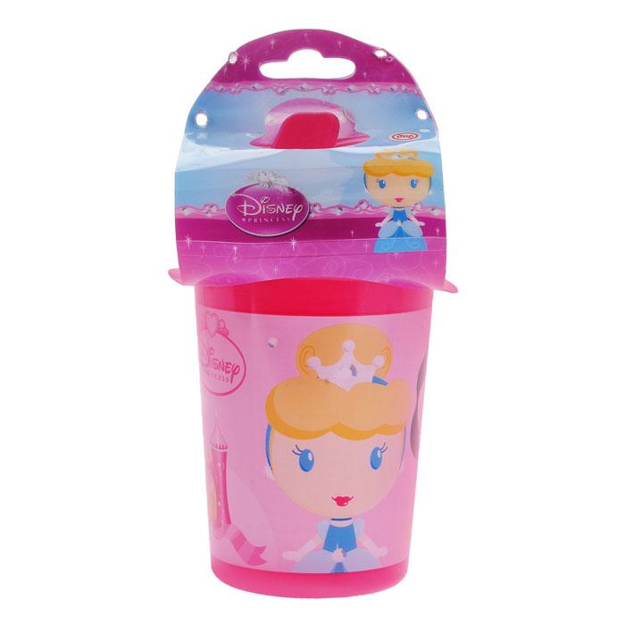 Поильник-непроливайка Принцессы, цвет: розовый, 380 мл