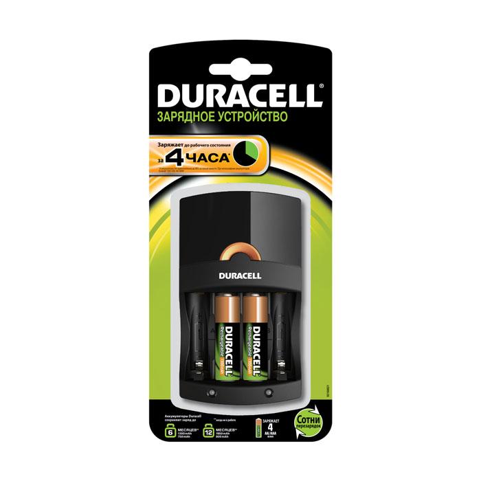 Зарядное устройство Duracell CEF 14 для аккумуляторов + 2 AA (1х 1300 мАч)DRC-81470622Простое в использовании зарядное устройство предназначенное для зарядки NiMH аккумуляторов. Заряжает аккумуляторы АА и ААА любой мощности. Можно заряжать 2 или 4 аккумулятора AA или AAA одновременно. Имеет два независимых канала зарядки. Время зарядки от 4х часов. Световые индикаторы зарядки аккумуляторов: красный – индикация процесса зарядки аккумуляторов; зеленый – индикация конца подзарядки или режим буферной подзарядки; мигающий красный – непригодные аккумуляторы или ненормальная температура зарядки. В случае отклонения от нормального режима в процессе зарядки или зарядки неперезаряжаемых элементов питания (батареек) устройство выключится и начнет мигать красный индикатор. Возможность использования прибора по всему миру – устройство соответствует принятым системам электропитания во всем мире (при применении адаптеров для розеток). Характеристики: Материал: пластик, металл. Размеры устройства: 12 см х 7 см х 7 см. ...