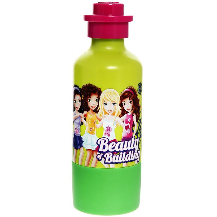"""Бутылка для воды LEGO """"Friends"""", цвет: зеленый"""
