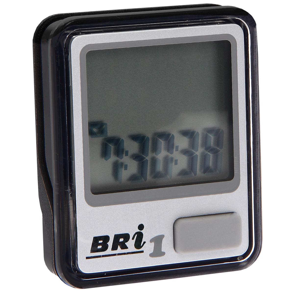 Велокомпьютер BRi-1, 5 функций, цвет: серебряный30238Велокомпьютер BRi-1 - это удобный и простой в использовании электронный прибор, предоставляющий велосипедисту всю необходимую информацию о поездке. Велокомпьютер состоит из двух частей соединенных проводом - дисплея, внешне похожего на электронные часы и датчика скорости. Дисплей крепится на руле с возможностью мгновенно отсоединить его, когда нет желания оставлять на велосипеде без присмотра или под дождем. Магнитный датчик скорости (геркон) крепится рядом с колесом. Принцип работы велокомпьютера довольно прост - программа за минуту настраивается на размер колеса велосипеда и начинает во время поездки считать за какое время колесо совершило полный оборот. Зная эти два параметра процессор может мгновенно высчитывать и выдавать на дисплей все требуемые параметры поездки. Характеристики: Материал: пластик, металл. Размер велокомпьютера: 3,7 см х 4,6 см х 1,5 см. Размер монитора: 2,7 см х 2,4 см. Размер упаковки: 7,2 см х...