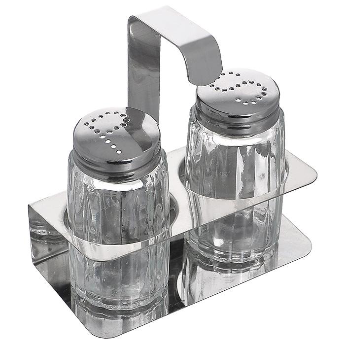 Набор для специй Mayer & Boch, 3 предметаMB9202Набор для специй Mayer & Boch, состоящий из солонки, перечницы и подставки, выполнен из металла и стекла. Благодаря своим небольшим размерам набор не займет много места на вашей кухне. Емкости легки в использовании: стоит только перевернуть их, и вы с легкостью сможете добавить соль и перец по вкусу в любое блюдо. Дизайн, эстетичность и функциональность набора Mayer & Boch позволят ему стать достойным дополнением к кухонному инвентарю.