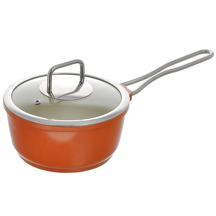 Сотейник Mayer & Boch с крышкой, цвет: оранжевый, 1,9 лMN21238Сотейник Mayer & Boch изготовлен из литого алюминия оранжевого цвета. Сотейник имеет внутреннее керамическое покрытие, предназначенное для здорового и экологичного приготовления пищи. Энергосберегающая технология позволяет равномерно распределять и значительно дольше сохранять тепло в посуде, а также предотвращает пригорание пищи и обеспечивает более быстрое приготовление блюд с сохранением вкусовых и полезных свойств продуктов. Удобная ручка, выполненная из нержавеющей стали, надежно крепится к корпусу сотейника. Крышка, выполненная из термостойкого стекла, позволит вам следить за процессом приготовления пищи. Она имеет отверстие для выхода пара и металлический обод. Крышка плотно прилегает к краю сотейника, предотвращая проливание жидкости и сохраняя аромат блюд. Сотейник подходит для использования на всех типах плит, включая индукционные. Также изделие можно мыть в посудомоечной машине.