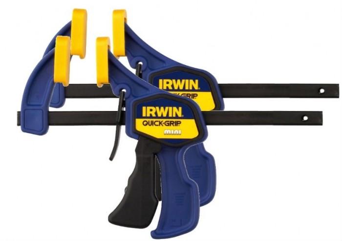 Струбцина Irwin Quick-Grip, автоматическая, до 30 см, 2 штT54122EL7Струбцина Irwin Quick-Grip, автоматическая используется для фиксации и сжатия всевозможных заготовок и деталей во время склеивания, закрепления на столярном верстаке или станке.
