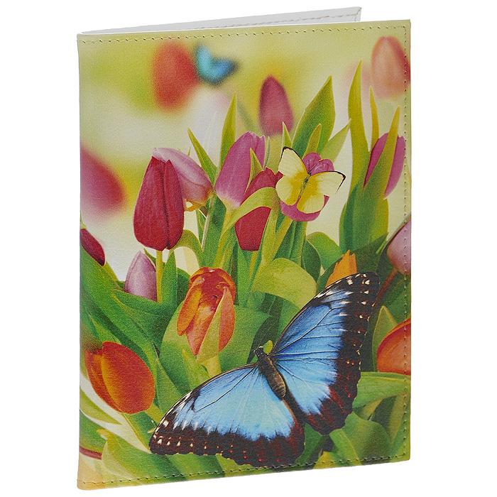 Обложка для автодокументов Perfecto Тюльпаны. VD-PT-05VD-PT-05Оригинальная обложка для автодокументов, выполненная из натуральной кожи, оформлена изображением тюльпанов и бабочек. Внутри содержится съемный блок из шести прозрачных файлов из мягкого пластика и четыре кармашка для пластиковых карт. Обложка для автодокументов не только поможет сохранить внешний вид ваших документов и защитит их от повреждений, но и станет стильным аксессуаром, идеально подходящим вашему образу. Характеристики: Материал: натуральная кожа, пластик. Размер обложки: 9,5 см х 13,2 см. Размер упаковки: 11 см х 1 см х 14 см. Артикул: VD-PT-05.