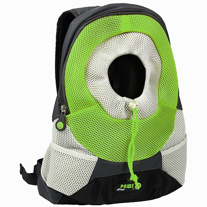 Переноска-рюкзак Crazy Paws для собак и кошек, цвет: зеленый, серый. Размер SmallDPETC 021-GNПереноска-рюкзак Crazy Paws прекрасно подойдет для кошек и собак мелких пород весом до 3 кг. Она изготовлена из высокотехнологичных материалов наивысшего качества, которые безопасны для животных и их владельцев. В такой переноске нет кривых швов и торчащих ниток, так как все элементы максимально точно подогнаны друг к другу. Вашему питомцу будет комфортно. Переноска Crazy Paws серии Pet Sling - это новейшее решение для переноски мелких домашних животных. Рюкзак позволит вам освободить свои руки и снять нагрузку со спинных мышц за счет правильного распределения веса собаки на ваши плечи. При этом животное будет находиться в удобном для него положении и комфортном состоянии за счет хорошей вентиляции. Этот вид переноски абсолютно безопасен и даже полезен для вас и для вашего любимца, за счет специальной анатомической формы рюкзака у животного снимается нагрузка с позвоночника. Животное надежно зафиксировано вшитым карабином за ошейник, а также специальным регулируемым...