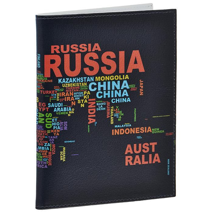 """Обложка для паспорта Perfecto """"World"""". PS-PR-0050 Перфекто"""