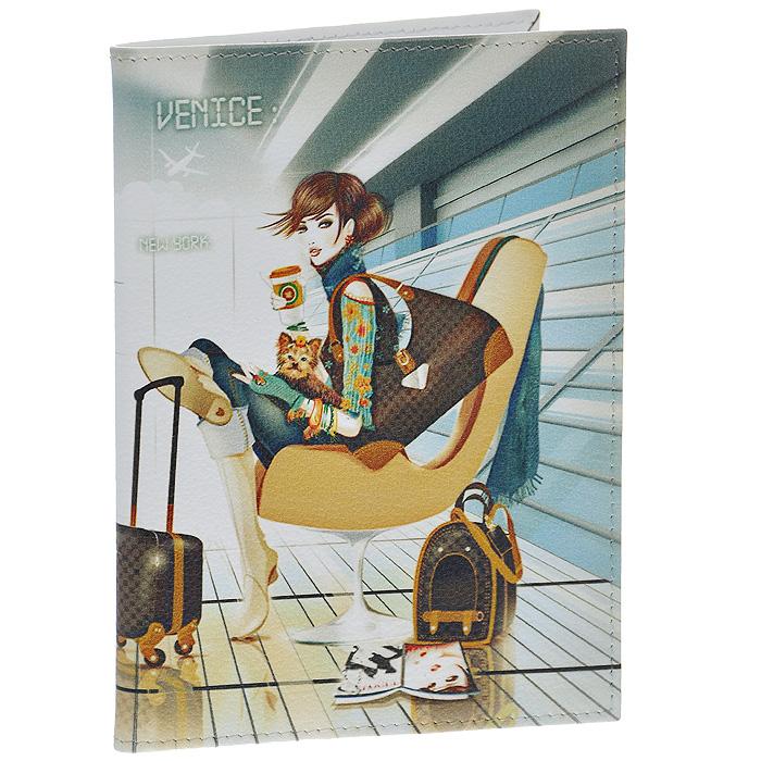 Обложка для паспорта Perfecto Airport. PS-GL-0038PS-GL-0038Стильная обложка Airport выполнена из натуральной кожи и оформлена изображением девушки, ожидающей своего рейса в аэропорту. На внутреннем развороте - два кармашка из прозрачного пластика. Обложка не только поможет сохранить внешний вид ваших документов и защитит их от повреждений, но и станет стильным аксессуаром, который подчеркнет ваш неповторимый стиль. Характеристики: Материал: натуральная кожа, пластик. Размер обложки: 9,5 см х 13,7 см. Размер упаковки: 11 см х 14,5 см х 1 см. Артикул: PS-GL-0038.