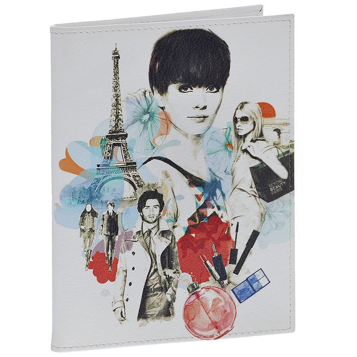 Обложка для паспорта Perfecto Parisian Fashion. PS-GL-0031PS-GL-0031Стильная обложка Parisian Fashion выполнена из натуральной кожи белого цвета и оформлена ярким принтом на тему парижской моды. На внутреннем развороте - два кармашка из прозрачного пластика. Обложка не только поможет сохранить внешний вид ваших документов и защитит их от повреждений, но и станет стильным аксессуаром, который подчеркнет ваш неповторимый стиль.