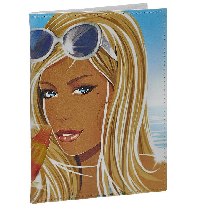 Обложка для паспорта Summer. PS-GL-0043PS-GL-0043Стильная обложка Summer выполнена из натуральной кожи и оформлена изображением девушки с мороженым. На внутреннем развороте - два кармашка из прозрачного пластика. Обложка не только поможет сохранить внешний вид ваших документов и защитит их от повреждений, но и станет стильным аксессуаром, который подчеркнет ваш неповторимый стиль.