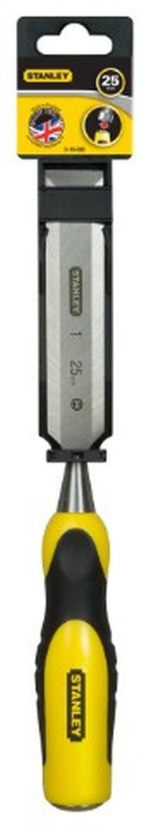 Стамеска Stanley, 16 мм0-16-876Стамеска Stanley предназначена для работы по дереву. Имеет двухкомпонентную эргономичную ручку. Кованое лезвие из высокоуглеродистой стали. Угол заточки режущей кромки доведен до оптимального. Ударопрочный торец.