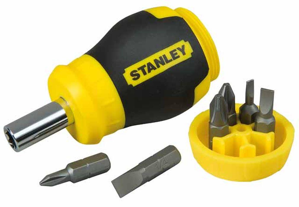 """Отвертка Stanley """"Stubby Multibi"""" +6 бит"""