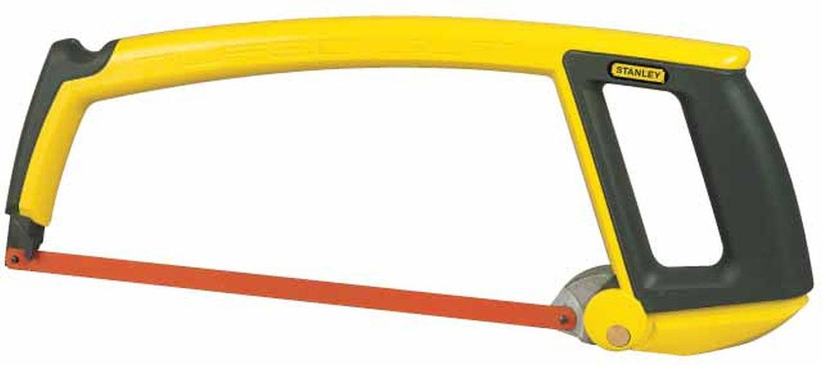 Ножовка по металлу Stanley Turbo Cut1-20-110Ножовка по металлу Stanley Turbo Cut предназначена для ручного распила металлических материалов при помощи ручного ножовочного полотна. Эргономичная конструкция с удобным захватом. Стальная рама, покрытая стекловолокном, обеспечивает очень сильное натяжение полотна для получения прямого, точного и аккуратного пропила. Полотно центрируется для надлежащего баланса Пружинный механизм натяжения полотна гарантирует быструю и удобную смену полотен. Допускает установку полотна под углом 45°. Сменные полотна не входят в комплект.