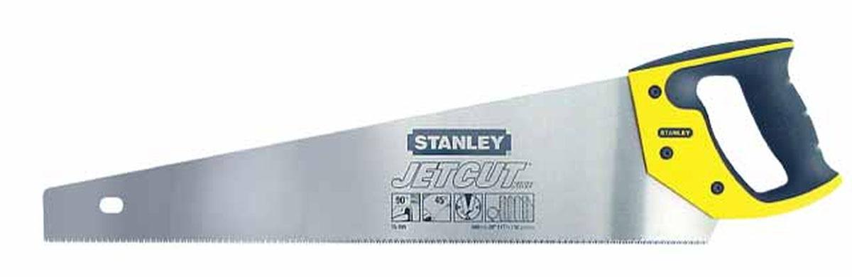 Ножовка по дереву Stanley Jet-Cut Fine, 45 см2-15-595Ножовка по дереву Stanley предназначена для пиления ламинированных и деревянных напольных покрытий. Эргономичная рукоятка позволяет точно вести инструмент во время работы. Закаленные зубья с 3-сторонней заточкой обеспечивают удивительную долговечность и скорость пиления. Двухкомпонентная рукоятка позволяет размечать углы в 45° и 90°.