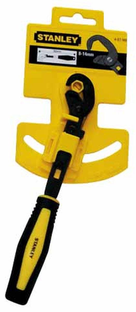 Быстрозажимной гаечный ключ Stanley, 13-19 мм4-87-989Быстрозажимной гаечный ключ Stanley - это ключ с эффектом храповика с быстрой регулировкой. Самонастраивающаяся конструкция устраняет необходимость снимать ключ с крепежного элемента при его вращении. Выпуклый профиль губок предотвращает повреждение гайки.