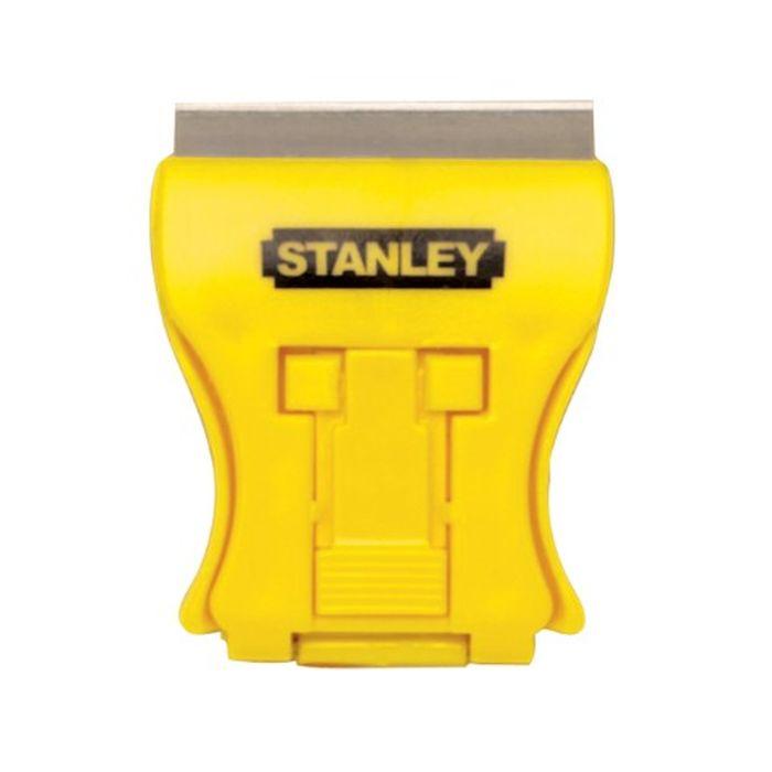 Мини-скребок для стекла Stanley0-28-218Мини-скребок для стекла Stanley - это вспомогательный ручной инструмент для очистки необходимых поверхностей от клея или краски. Острозаточенное лезвие быстро и эффективно отчищает желаемую плоскость. Рабочая часть легко поддается замене в случае необходимости. Инструмент прекрасно подходит для работы в местах с ограниченным доступом за счет миниатюрной конструкции. В комплект входит 5 лезвий.