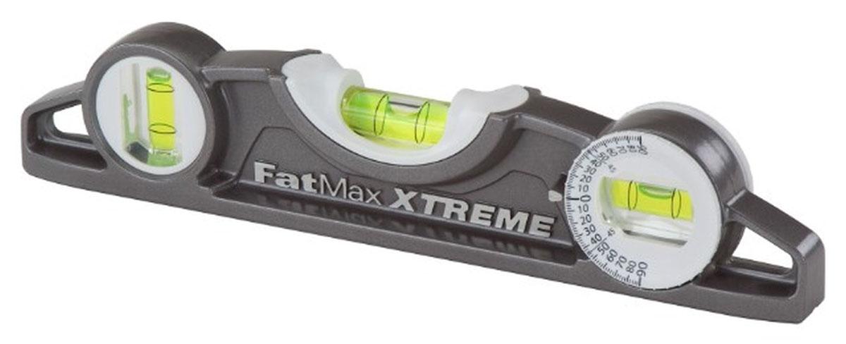 Уровень Stanley FatMax XL Torpedo, 3 капсулы, цвет: серый, 25 см0-43-609Профессиональный строительный уровень Stanley FatMax XL Torpedo используется при необходимости контроля горизонтальных и вертикальных плоскостей. Усиленный, противоударный, алюминиевый корпус уровня облегчает с ним работу.