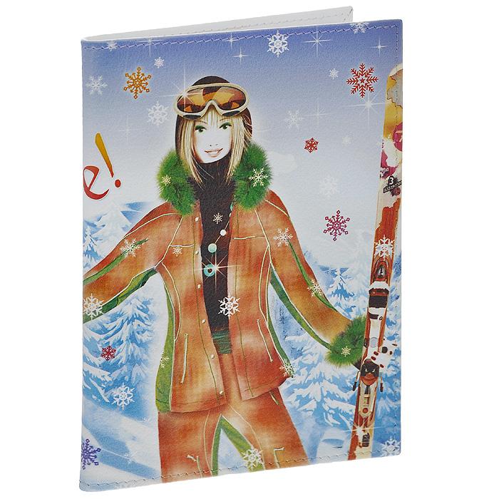 Обложка для паспорта Perfecto Ski. PS-GL-0037PS-GL-0037Стильная обложка Ski, выполненная из натуральной кожи, оформлена изображением лыжницы и надписью: Snow! Life! Love!. На внутреннем развороте - два кармашка из прозрачного пластика. Обложка не только поможет сохранить внешний вид ваших документов и защитит их от повреждений, но и станет стильным аксессуаром, который подчеркнет ваш неповторимый стиль.