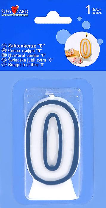 Свеча-цифра для торта Susy Card 0 цвет синий11142312Свеча для торта Susy Card серии Party & Picknick выполнена в форме цифры 0 из белого парафина с синим контуром по краям. Свеча-цифра создает неповторимую атмосферу праздника и прекрасно вписывается в любой интерьер. Свеча для торта - отличный способ порадовать ребенка в его День рождения.