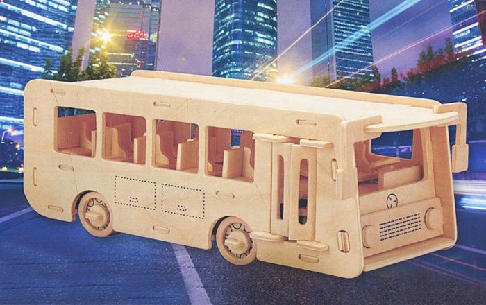 Сборная деревянная модель АвтобусП092Сборная деревянная модель Автобус позволит вам и вашему ребенку собрать объемную деревянную конструкцию в виде автобуса. Модель для сборки развивает мелкую моторику, интеллектуальные способности, воображение и конструктивное мышление, тренирует терпение и усидчивость. Модель выполнена из экологически чистой древесины.