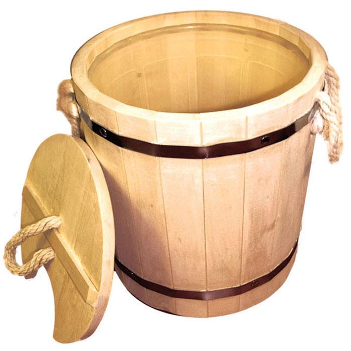 Запарник Банные штучки, с крышкой, 12 л03709Запарник Банные штучки выполнен из брусков липы стянутых двумя металлическими обручами, внутри предусмотрена пластиковая вставка, позволяющая избежать протекания жидкости. Для более удобного использования запарник имеет по бокам две небольшие веревочные ручки, а также деревянную крышку. Такой запарник доставит вам настоящее удовольствие от банной процедуры. При запаривании веник обретает свою природную силу и сохраняет полезные свойства. Интересная штука - баня. Место, где одинаково хорошо и в компании, и в одиночестве. Перекресток, казалось бы, разных направлений - общение и здоровье. Приятное и полезное. И всегда в позитиве Характеристики: Материал: натуральное дерево, металл, пластмасса, текстиль. Объем: 12 л. Диаметр запарника по верхнему краю: 31 см. Высота стенок: 32,5 см. Артикул: 03709.