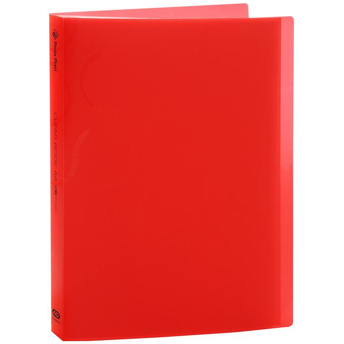 """Panta Plast Папка с файлами """"Omega"""", 40 листов, цвет: красный 0410-0033-05"""