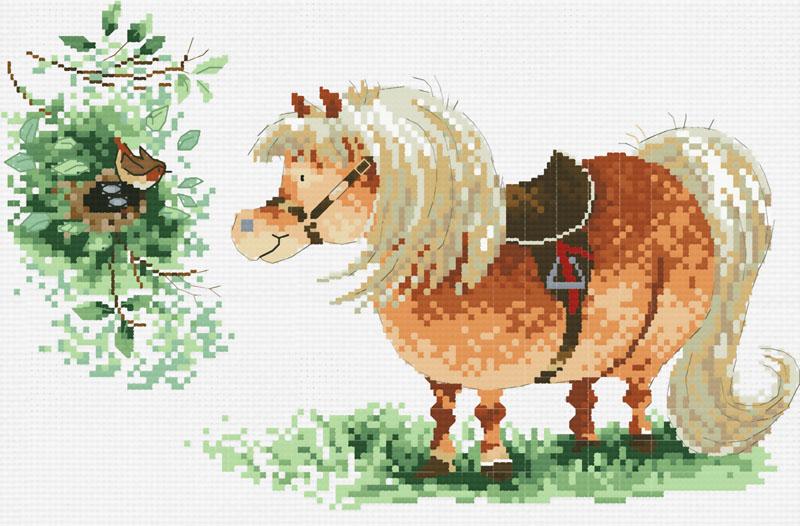 Набор для вышивания крестом Пони и птичка, 34 см х 26 см821-14 Пони и птичкаКрасивый и стильный рисунок-вышивка, выполненный на канве, выглядит оригинально и всегда модно. В наборе для вышивания Пони и птичка есть все необходимое для создания собственного чуда: канва, специальные нити, игла и схема рисунка. Работа, сделанная своими руками, создаст особый уют и атмосферу в доме и долгие годы будет радовать вас и ваших близких. Ведь вы выполните вышивку с любовью!