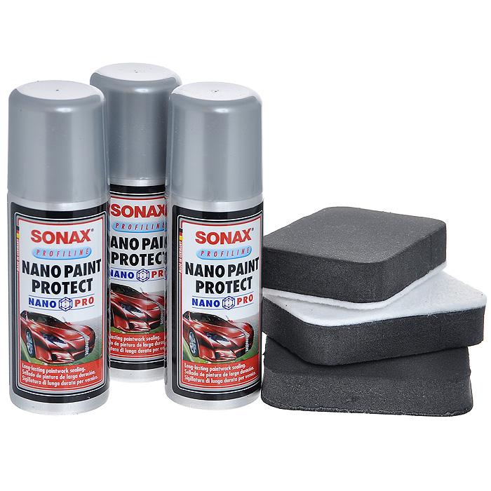 Средство для защиты лакокрасочного покрытия Sonax236000Спиртовой раствор поверхносно-модифицированного нано-дисперсного кремния. Применяется для всех видов автомобильный красок. Обеспечивает длительную защиту от грязи, царапин и воздействия внешней среды. Использовать в хорошо проветриваемых помещениях. Характеристики: Объем: 50 мл. Общий объем: 150 мл. Размер аппликатора: 5 см х 7,5 см х 1,5 см. Размер упаковки: 11,5 см х 11,5 см х 6,5 см. Артикул: 236000.