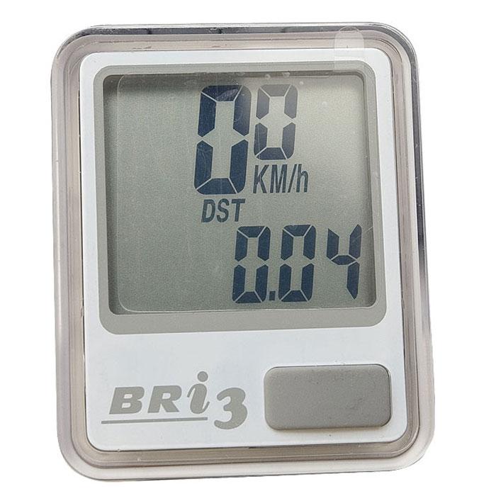 "Echowell Велокомпьютер ""BRi-3"", 10 функций, цвет: серебряный"