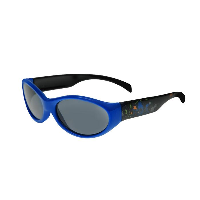 Солнцезащитные очки Luvable Friends, цвет: синий, 0-3 лет30935Стильные солнцезащитные очки Luvable Friends надежно защитят глазки вашего малыша от ярких солнечных лучей, а также грязи и пыли. Линзы выполнены из противоударного поликарбоната для большей защиты глаз ребенка. Отличительная особенность поликарбоната - самая высокая устойчивость к ударным нагрузкам. Очки с поликарбонатными линзами наиболее травмобезопасны. Линзы обеспечивают 100% защиту от ультрафиолетовых лучей, а при необходимости они могут быть заменены на диоптрические. Оправа выполнена из пластика синего цвета, душки - из пластика черного цвета с разноцветными брызгами.