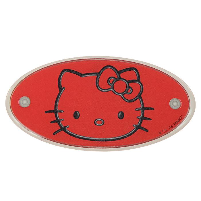 Наклейка Hello Kitty, цвет: красный3360Наклейка Hello Kitty позволит вашей малышке украсить интерьер детской комнаты любимым персонажем - кошечкой Китти. Наклейка овальной формы выполнена из ПВХ и оформлена изображением головы Китти на красном фоне. Hello Kitty (Хелло Китти) - персонаж японской поп-культуры - маленькая белая кошечка в упрощенной рисовке. Торговая марка Hello Kitty, зарегистрированная в 1976 году, используется в качестве бренда для многих продуктов и стала главным героем одноименного мультсериала. Игрушки Hello Kitty - популярные в Японии и во всем мире сувениры.