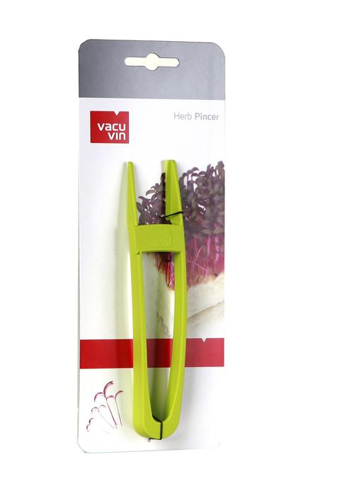 Устройство VacuVin Herb Pincer для срезания кресс-салата, цвет: зеленый4661660Устройство VacuVin Herb Pincer, выполненное из пластика зеленого цвета, идеально подходит для одновременного срезания нескольких веточек зелени или кресс-салата. Узкие щипцы позволят вам точно захватить желаемое количество, а острые края срежут травы и крепко их удержат. Запатентованная функция срез и сжатие поможет вам срезать и крепко удержать кресс-салат и зелень с мягкими стебельками. Устройство можно мыть в посудомоечной машине.