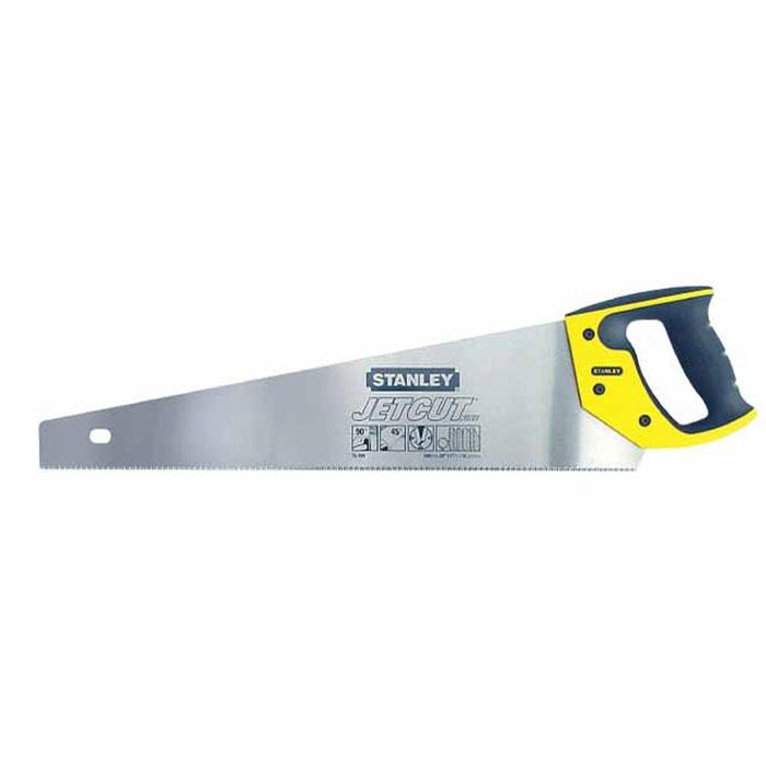 Ножовка по дереву Stanley Jet-Cut Fine, 50 см2-15-599Ножовка по дереву Stanley предназначена для пиления ламинированных и деревянных напольных покрытий. Эргономичная рукоятка позволяет точно вести инструмент во время работы. Закаленные зубья с 3-сторонней заточкой обеспечивают удивительную долговечность и скорость пиления. Двухкомпонентная рукоятка позволяет размечать углы в 45° и 90°.